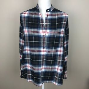 Madewell Plaid High-low Tunic Size Small